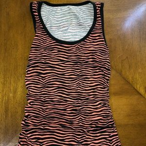 MICHAEL KORS striped tank with side zip (S)